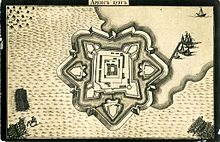 A plan of Kuressaare castle and fortress in 1710.