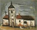 SaekiYūzō-1928-Church in Villiers-sur-Morin.png