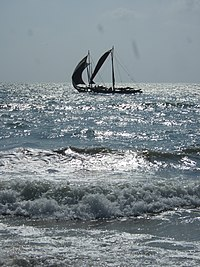 Sailboats near Brown Beach Hotel, Negombo, Sri Lanka.jpg