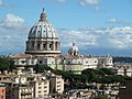 Saint Peter's Basilica in views of OFM General Curia.jpg