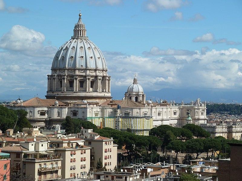 Peterskyrkan i utsikt över OFM General Curia.jpg