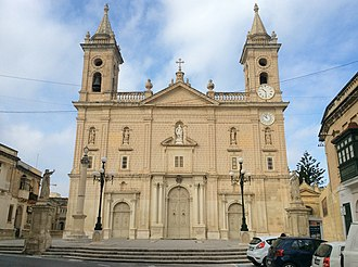 Qormi - View of the Church of Saint George