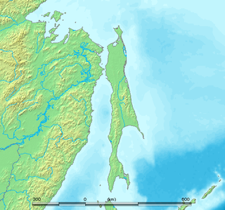Sakhalin large Russian island in the North Pacific Ocean