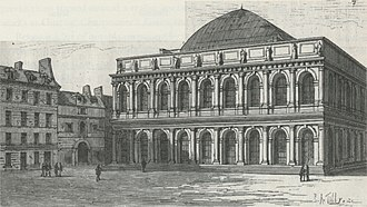 Salle Ventadour - The Salle Ventadour as an opera house in the mid 19th century.