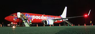 Transport in Samoa - Night departure at Faleolo International Airport
