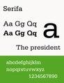 Sample Serifa typeface.tif