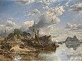 Samuel Bough - Shipyard at Dumbarton (1855).jpg