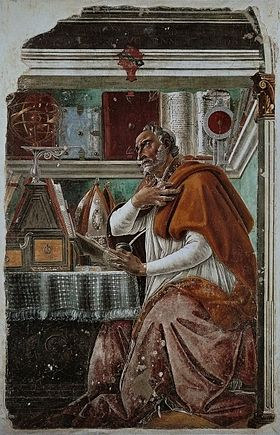 Image illustrative de l'article Saint Augustin dans son cabinet de travail (Botticelli, Ognissanti)