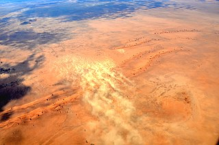 Dust storm meteorological phenomenon common in arid and semi-arid regions
