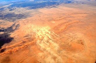 Dust storm - Image: Sandsturm in der Namib (2017)