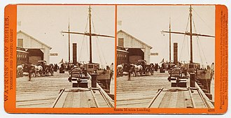 Los Angeles and Independence Railroad - Image: Santa Monica Landing. 4505