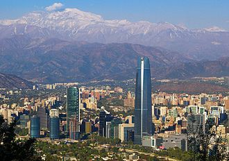 """Manhattanization - """"Sanhattan"""", in Santiago, Chile."""