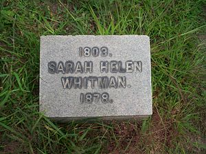 Sarah Helen Whitman - Grave of Sarah Helen Whitman