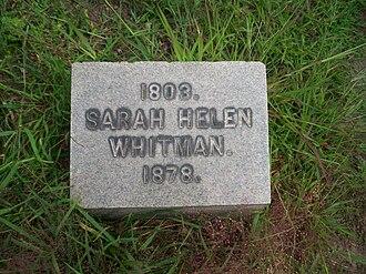 Sarah Helen Whitman - Grave of Sarah Helen Whitman