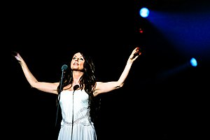 "Sarah Brightman - Brightman performing in ""Live Earth Concert"" in China (2007)."