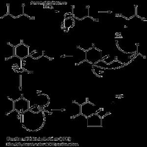 Sarcosine dehydrogenase - Image: Sarcosine Mechanism THF