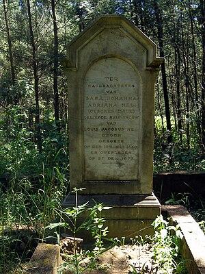 Sarie Marais - Grave of Sara Johanna Adriana Maré.