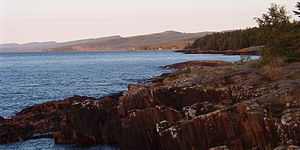 Duluth Complex - The Sawtooth Mountains rising from Lake Superior