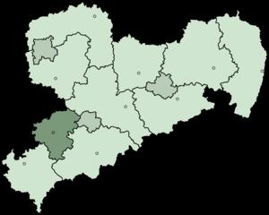 Zwickau (district) - Image: Saxony Landkreis Zwickau 2008
