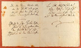 Ode to Joy - Autographed manuscript, circa 1785