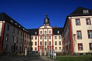 Saxe-Coburg-Saalfeld - Schloss Saalfeld, built after 1677 as the ducal residence