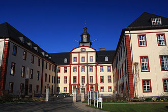 Saxe-Coburg-Saalfeld - Schloss Saalfeld, built after 1677 as the ducal residence