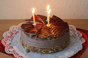 Birthday cake - A chocolate buttercream birthday cake