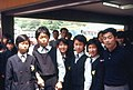 Schoolgirls speaking Japanese Engrish, in Meiji Shrine Outer Garden, Tokyo (and a Story) (1967-05-04 by Roger W).jpg