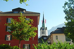 Skyline of Schwanden