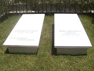 Leonardo Sciascia - His tombstone in Racalmuto