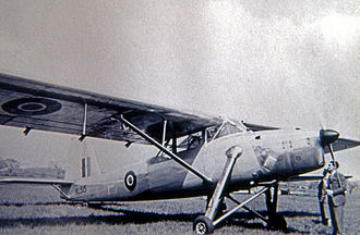Scottish Aviation Pioneer - The prototype A4/45, fitted with a De Havilland Gypsy Queen engine, on exhibition in 1948