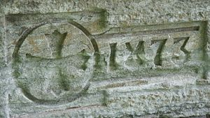 Seabury-Western Theological Seminary - Cornerstone of Seabury Divinity Hall in Faribault, Minnesota