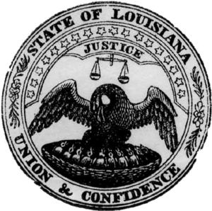 Seal of Louisiana - Image: Seal of Louisiana (1877)