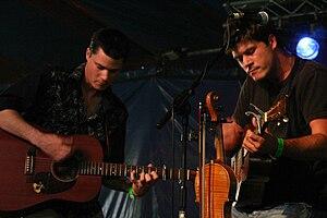 Sean Lakeman - Sean Lakeman (left) performing with his brother Seth