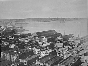 China Club of Seattle - Seattle ocean dock and environs circa 1916