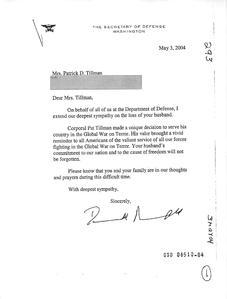 SecretaryRumsfeld records related to Corporal Patrick D Tillman September11 2001 through April 1 2006.pdf