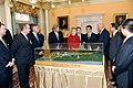 Secretary Clinton, Vice President Biden, and Secretary Vilsack Show Chinese President Hu Jintao a Model of the Proposed China Garden (5371106495).jpg