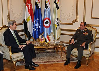 Abdel Fattah el-Sisi - US Secretary of State John Kerry meets with Egyptian Defense Minister el-Sisi in Cairo, 3 March 2013
