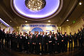 Secretary of Defense Robert M. Gates poses for a photo with participants in the 12th-annual meeting of the Southeastern Europe Defense Ministerial (SEDM) in Kiev, Ukraine, Oct. 22, 2007 071022-D-LB417-008.jpg
