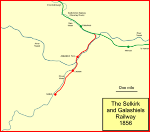Selkirk and Galashiels Railway - The Selkirk and Galashiels Railway