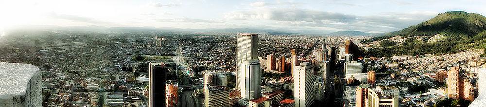 Panorama vido al urbocentro de Bogoto