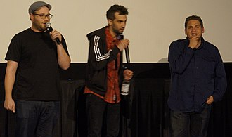 This Is the End - Seth Rogen, Jay Baruchel and Jonah Hill at a screening for the film in June 2013