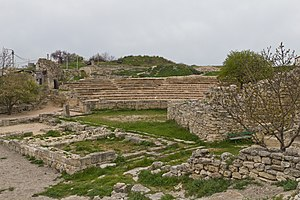 Sevastopol - The ruins of the ancient Greek theatre in Chersonesos Taurica