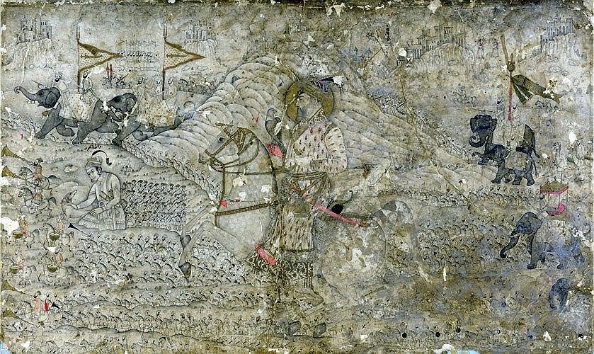 Shah Jahan and his son, Dara Shikoh, c17th century