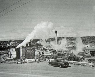 Shelton, Washington - Image: Shelton WA sawmills