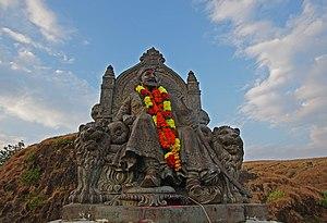 Chhatrapati - Statue of Shivaji at Raigad fort, Maharashtra