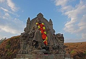 Chhatrapati - Statue of Chhatrapati Shivaji Maharaj at Raigad fort, Maharashtra