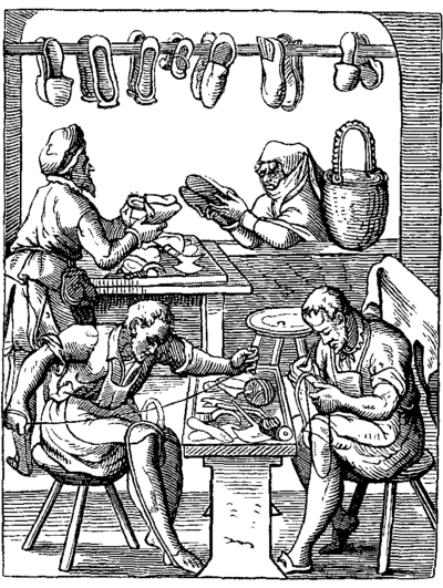 Shoemakers, 1568 Shoemaker Book of Trades.png