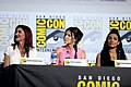 Shohreh Aghdashloo, Cobie Smulders & Freema Agyeman (48460259762).jpg