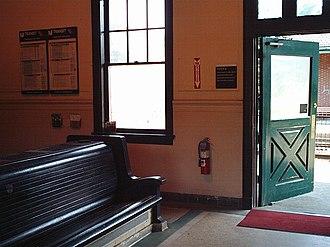 Short Hills station - Image: Short Hills Station Waiting Room